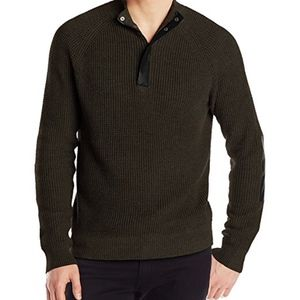Kenneth Cole Men's Half Zip Sweater with Coating